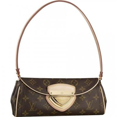 LV Monogram Canvas Beverly Clutch Brown-M40122